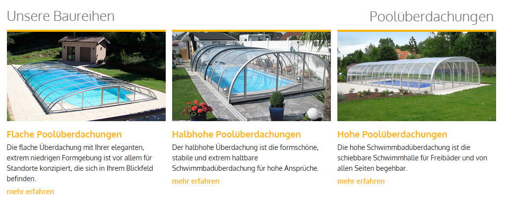 Pooldach hoch Informationen